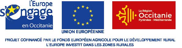 Union Européenne, Fond Européen Agricole pour le Développement Rural, région Occitanie